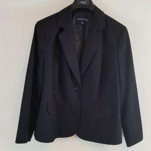 Evan Picone striped black blazer